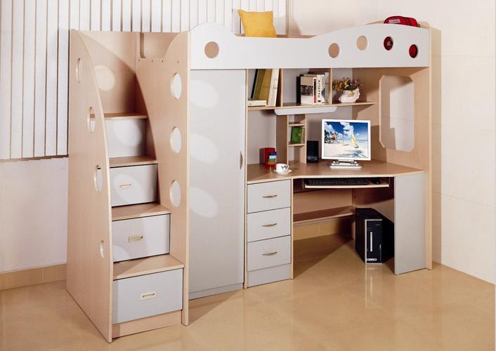 Hoogslager met bureau en kast werkspot