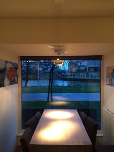 spots plaatsen boven eettafel keuken werkspot