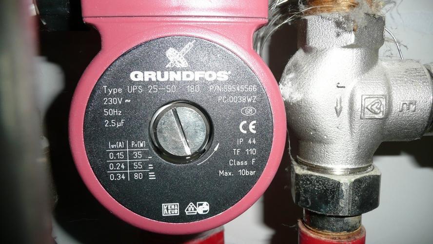 pomp vervangen vloerverwarming grundfos 25-50 180