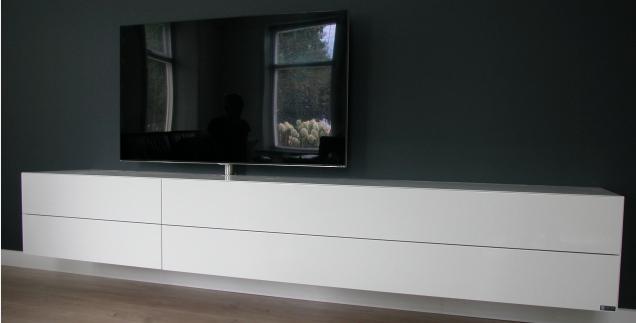 Hangende Tv Kast : Hangend tv meubel zijdeglans werkspot