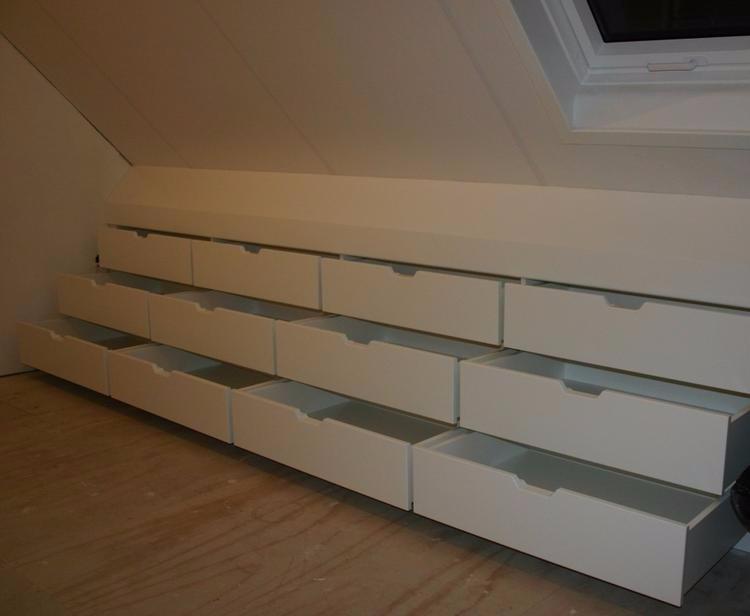 Karwei Of Ikea Ladekast Inbouwen Schuine Wand Zolder Ca 3m