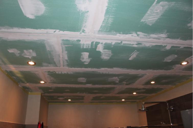 Stucwerk Badkamer Knauf : Gipsplafond badkamer glad stucen 2 19 x 3 68 meter werkspot