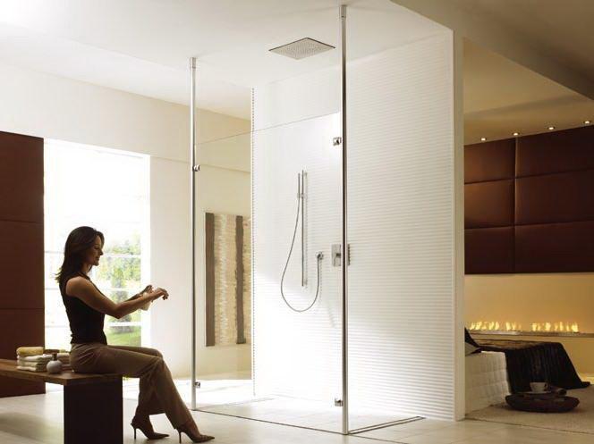 ontwerpen en maken open douche in slaapkamer