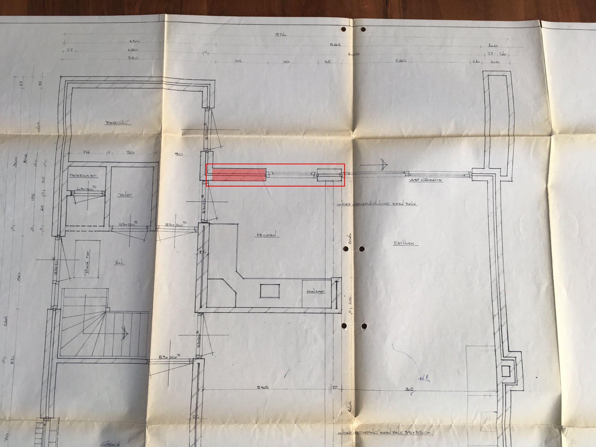 Constructieberekening doorgang keuken serre vergroten draagmuur