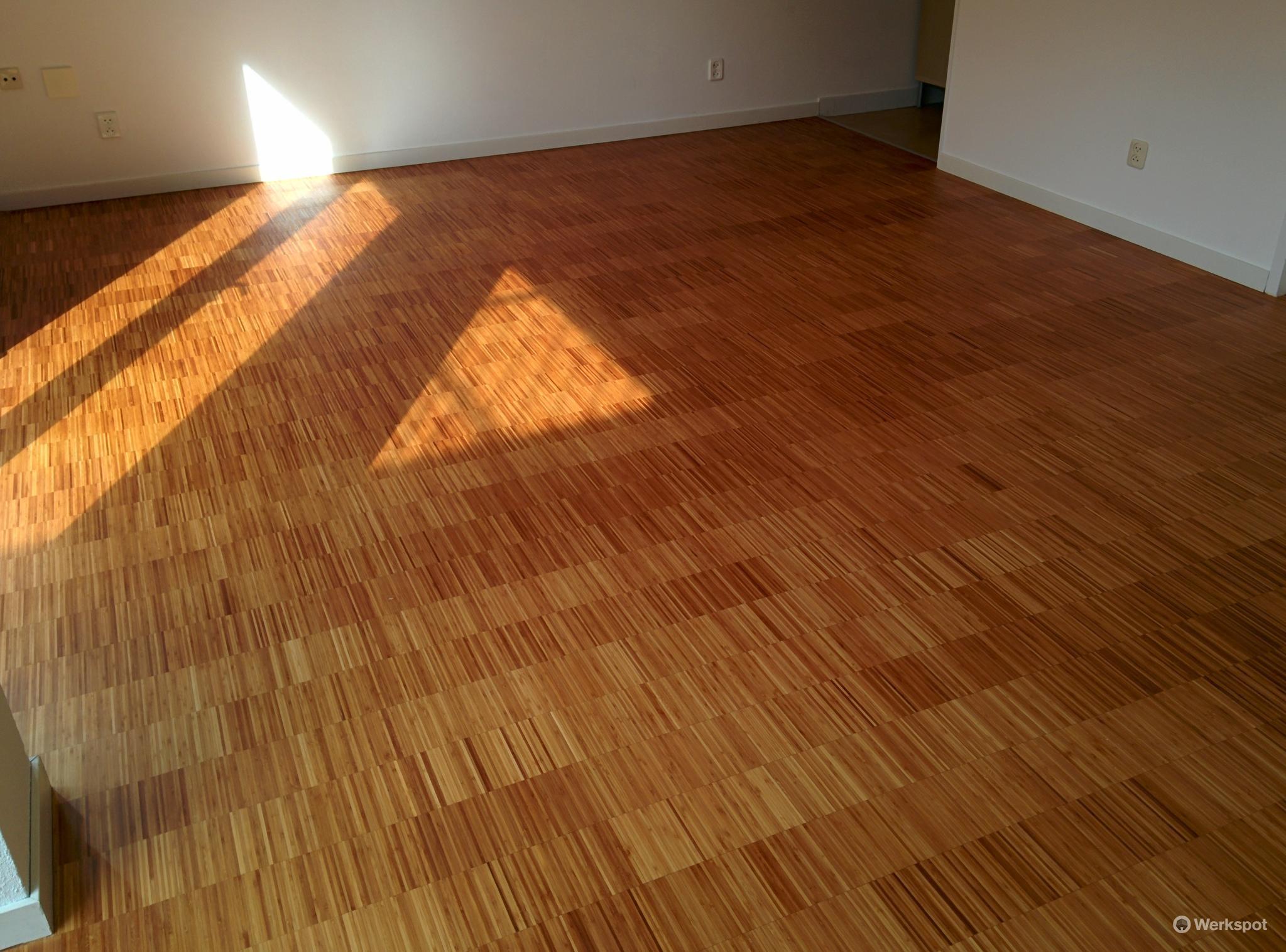 Bamboe vloer schuren en lakken stunning na with bamboe vloer