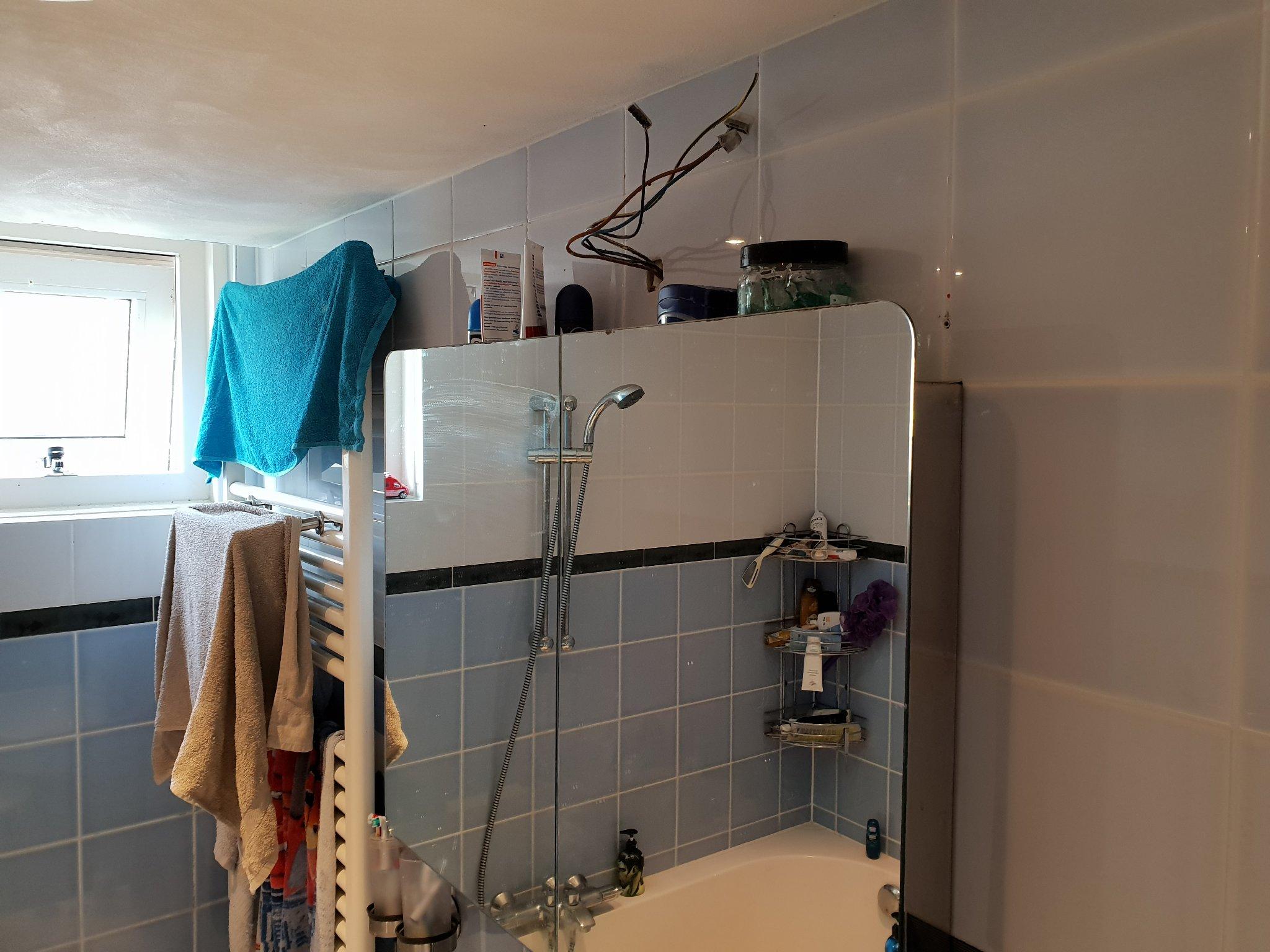 Spiegellamp Voor Badkamer : Badkamer afwerken w c repareren spiegellamp plafond schade en