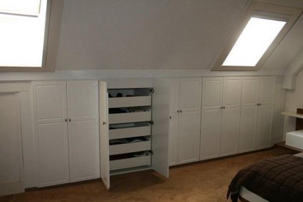 Schuine Kast Zolder : Inbouwkast zolder schuine wand werkspot