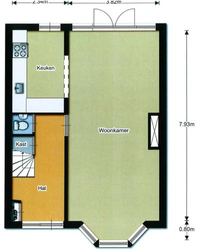 Stuken plafond woonkamer, badkamer en wand in keuken (eventueel met ...