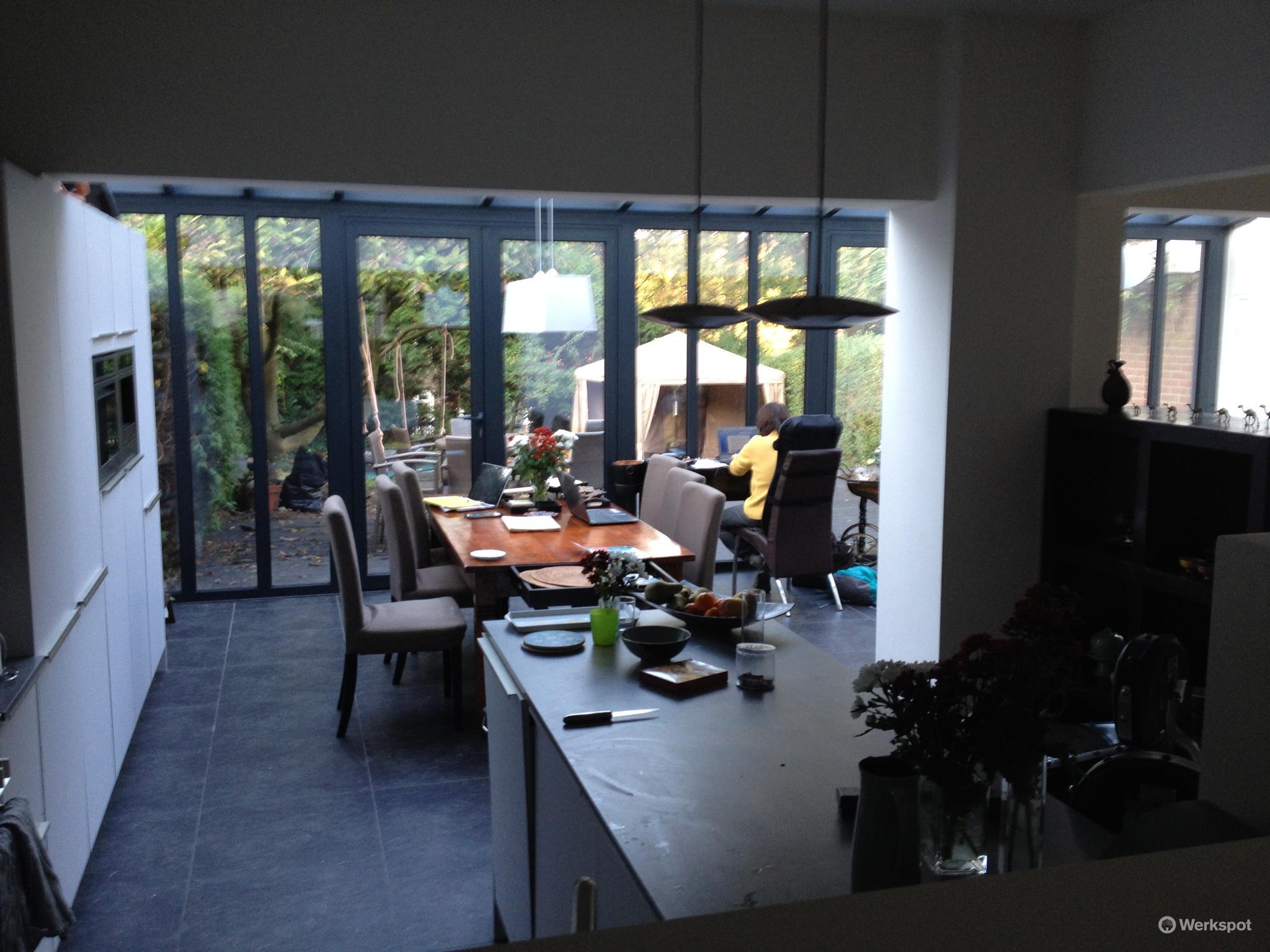 Aanschaf en aanbouw van serre verplaatsing keuken plafonds