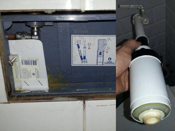 Onderdelen Hangend Toilet : Wc blijft lopen 2 aparte wcs werkspot