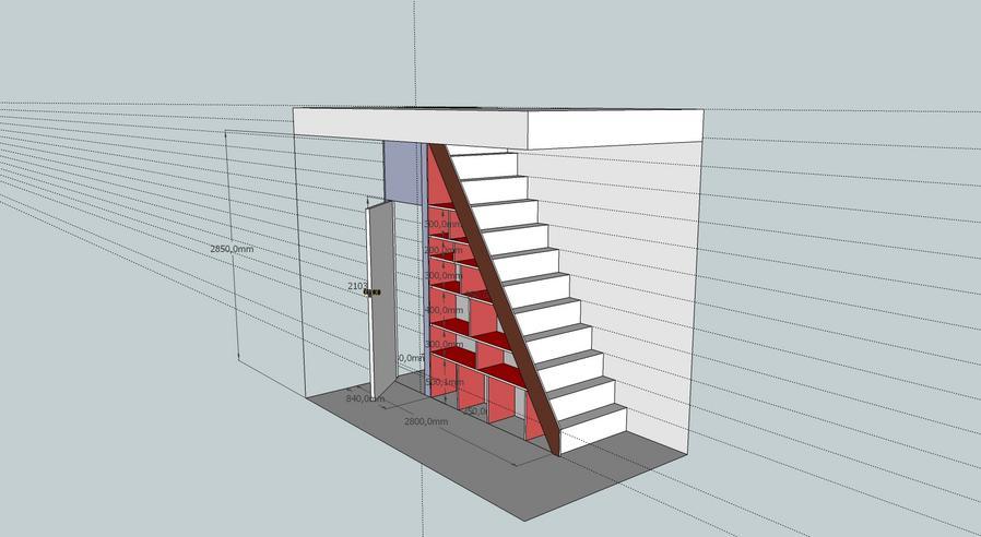 Kast Onder Trap : Vaste kast onder trap maken werkspot