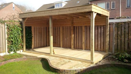 Overkapping tuin werkspot for Foto op hout maken eigen huis en tuin