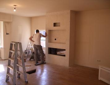 Koof bouwen voor tv en elektr. Openhaard in Woonkamer - Werkspot