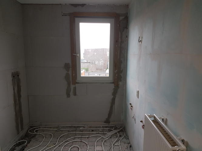 Inrichting Badkamer Vloer : Inrichting van badkamer vloer tegels sanitair meubels almere