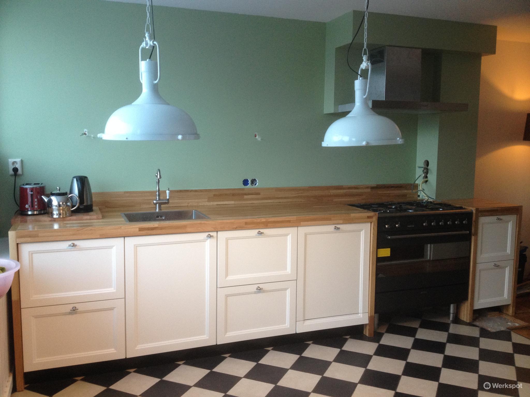 Werkblad Keuken Hout : Keuken met houten werkblad