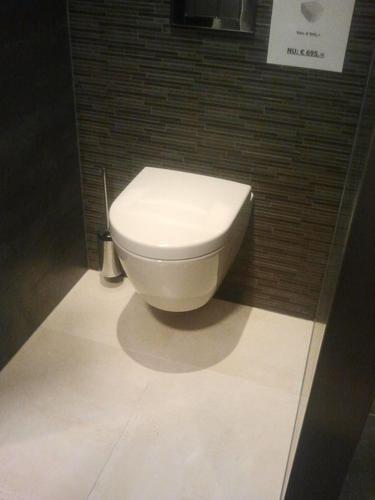 Plaatsing zwevend toilet plus gekalibreerde tegels werkspot - Voorbeeld toilet ...