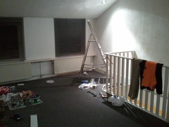 Lege woonkamer spuiten - Werkspot