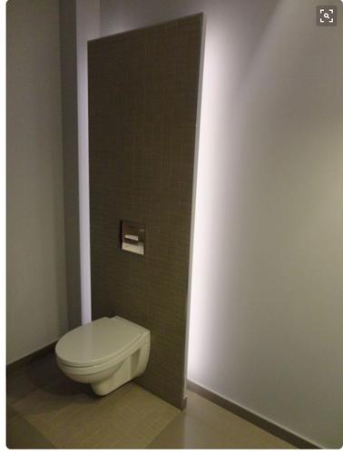 Toilet verlichting plafond inbouw for Indirecte verlichting toilet