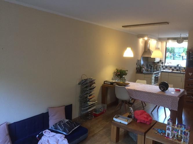 Spuiten/sauzen/schilderen woonkamer, gang en trapgang. Schilderen 4 ...