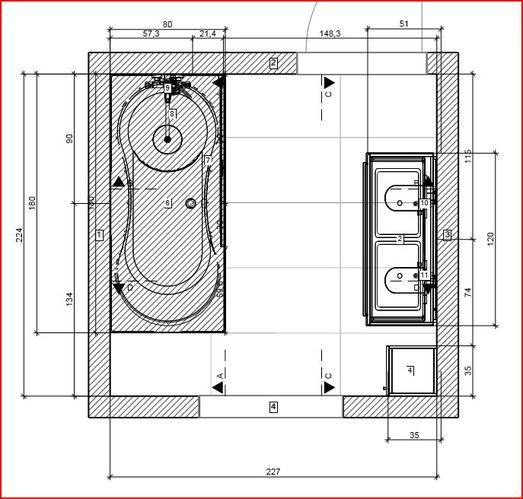 installatie van badkamer meubelen en kranen en mogelijk tegelwerk ...