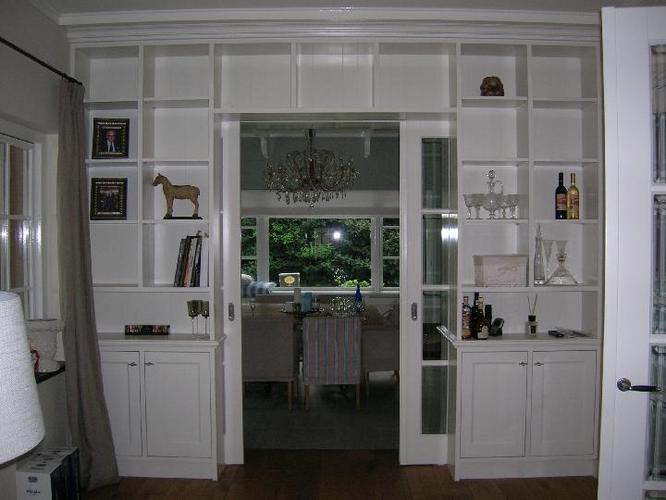Tussenwand met schuifdeuren en kastruimte werkspot - Schuifdeur keuken woonkamer ...