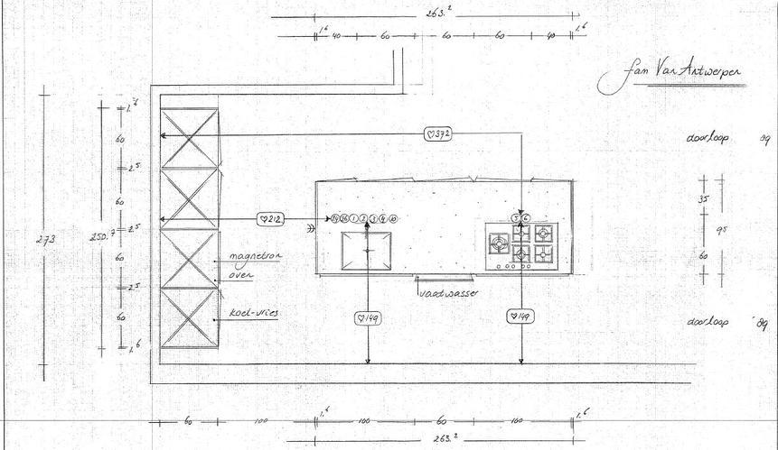 Koof plaatsen en water en gas leidingen verleggen werkspot for Zelf keukenontwerp maken