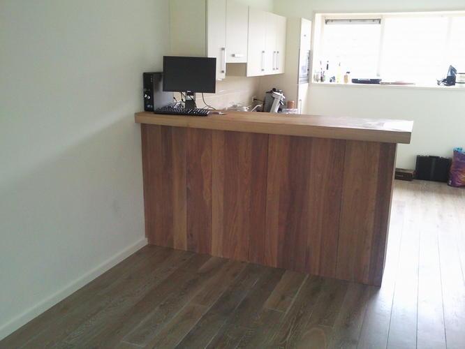 Open keuken afscheiding werkspot - Lounge en keuken in dezelfde kamer ...