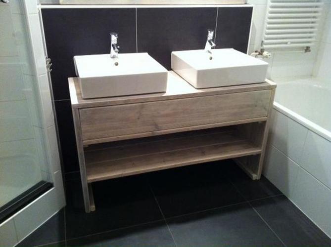 Steigerhouten badmeubel spiegel en wc fonteintje maken for Spiegel voor in de wc