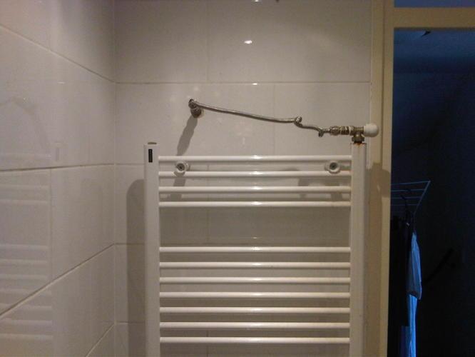 Lekkage in badkamer muur bij cv aansluiting werkspot