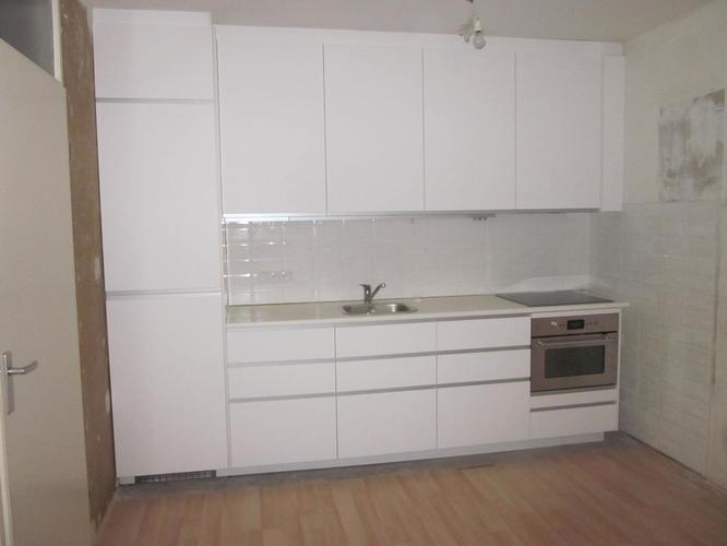 Aanpassing In Nieuwe Ikea Keuken Verlagen Kast Voor Koelkast