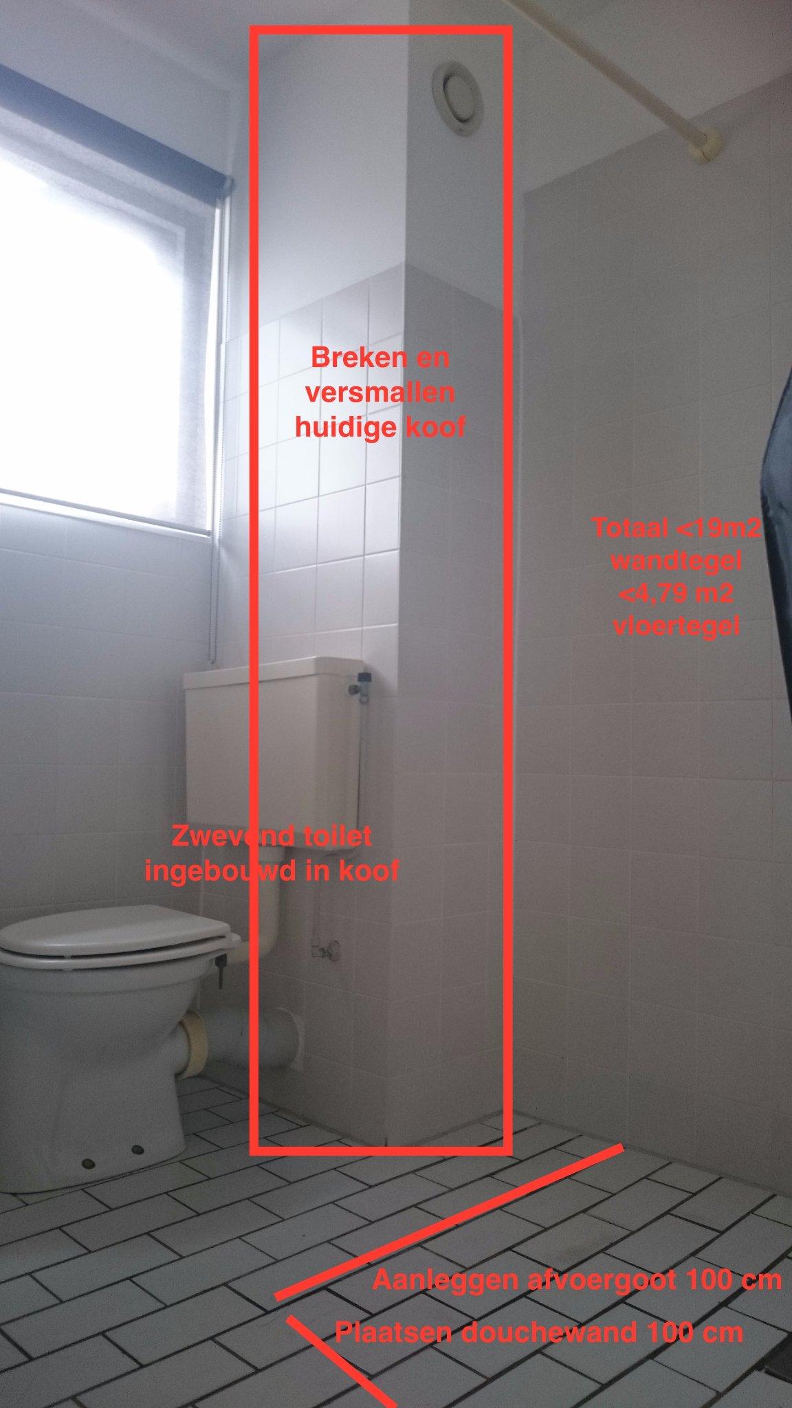 Nieuwe badkamer+toilet+ketel+mechanische ventilatie+radiatoren ...