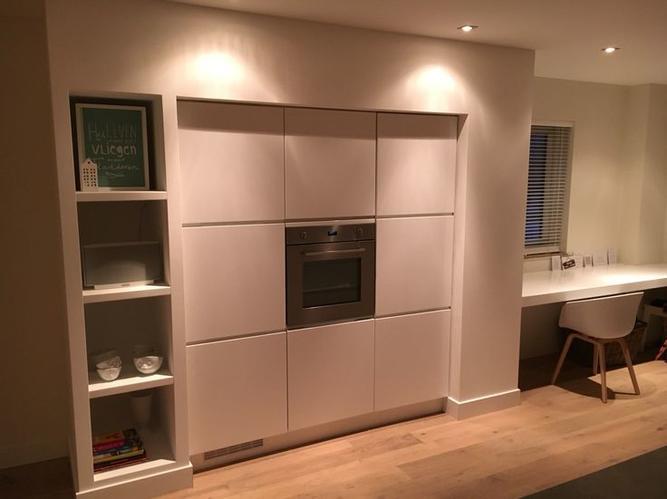 Kastombouw Voor Hoge Keukenkast 8 Meter Koof Plaatsen