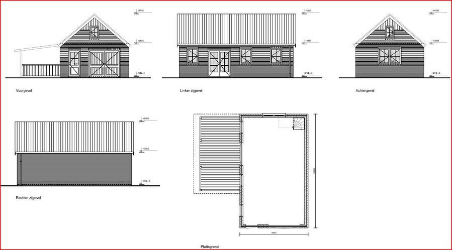 Bouwen garage schuur 6 x 10 mtr met veranda werkspot - Veranda met dakpan ...
