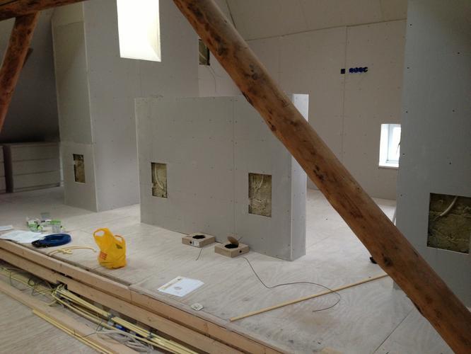 Lichtgewicht egalisatie oplossing voor houten vloer werkspot