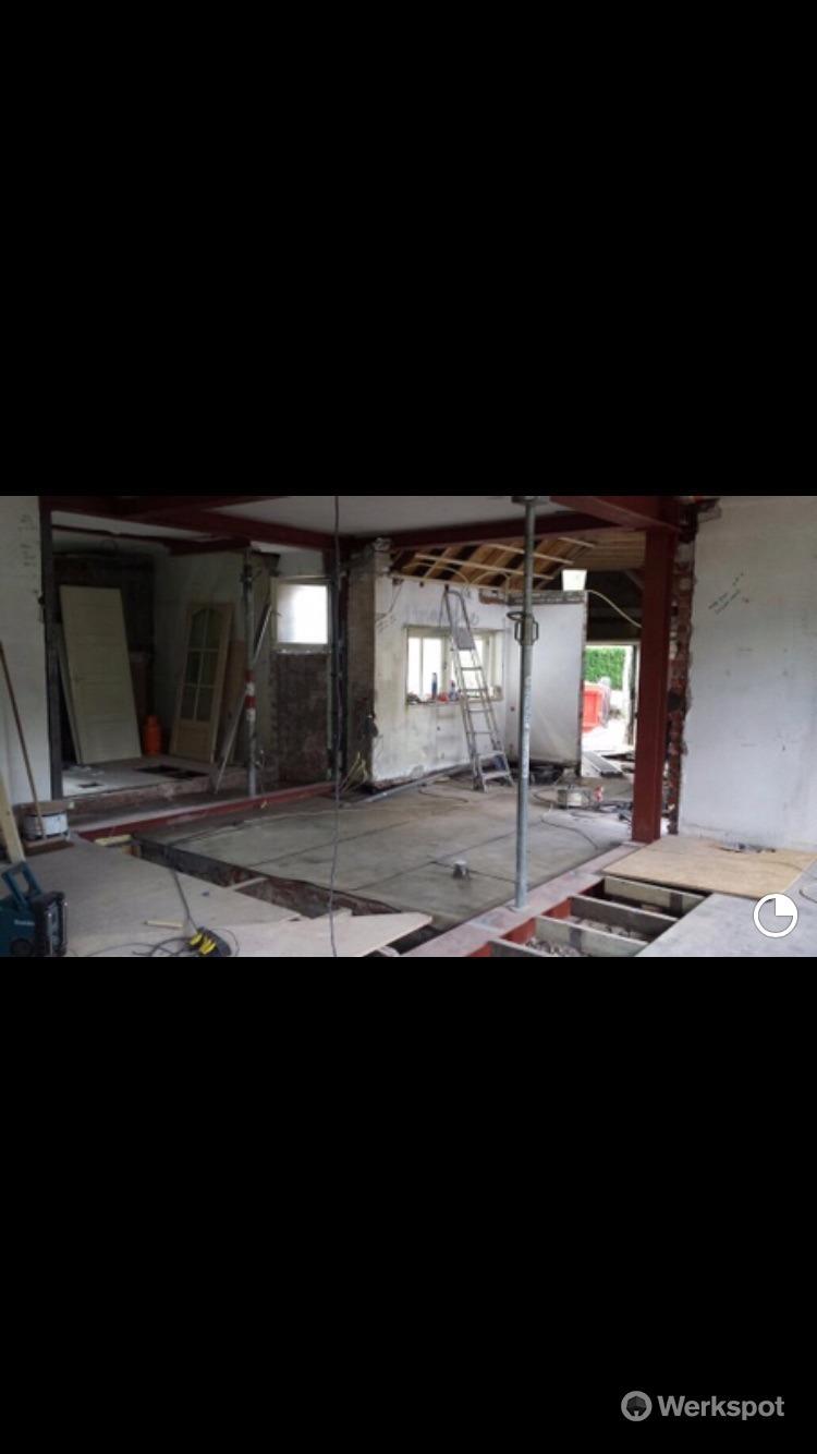 Plaatsen h balken werkspot for Vaste trap ipv vlizotrap