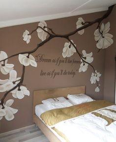 Muurschildering op 3 slaapkamers en zolderkamer werkspot - Grijs muurschildering ...