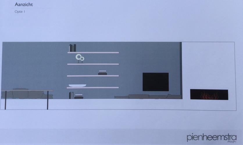 nieuwbouw afwerken lichtplan plafond verlaging tv meubel