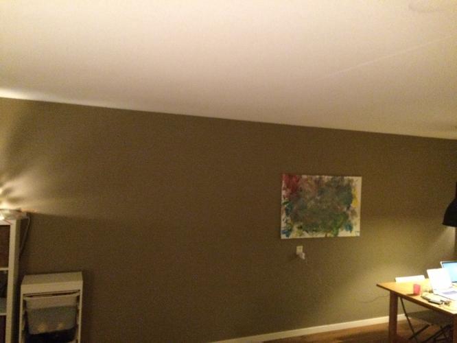 Woonkamer verven of stucen met kleur ong 35 m2 werkspot for Woonkamer verven