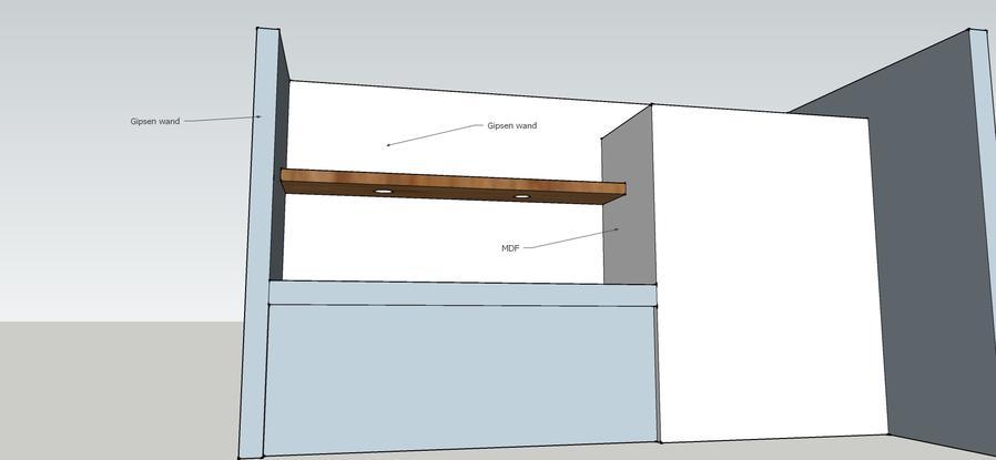 Plank Met Onzichtbare Bevestiging.Plank Met Blinde Bevestiging Aan Muur Werkspot
