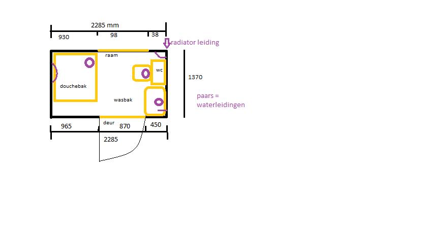 Tekening Kleine Badkamer – devolonter.info