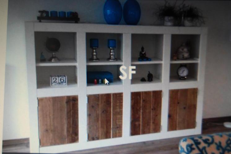 Kast van steigerhout voor in woonkamer - Werkspot