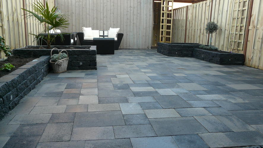 36 m2 bestraten tuin nieuwbouwwoning werkspot for Tuin laten bestraten