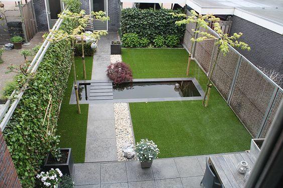 Aanleggen tuin nieuwbouw 75m2 werkspot for Moderne waterpartijen tuin