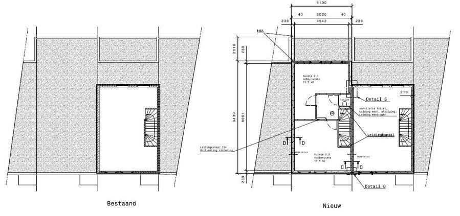Dakopbouw casco werkspot for Vaste trap ipv vlizotrap