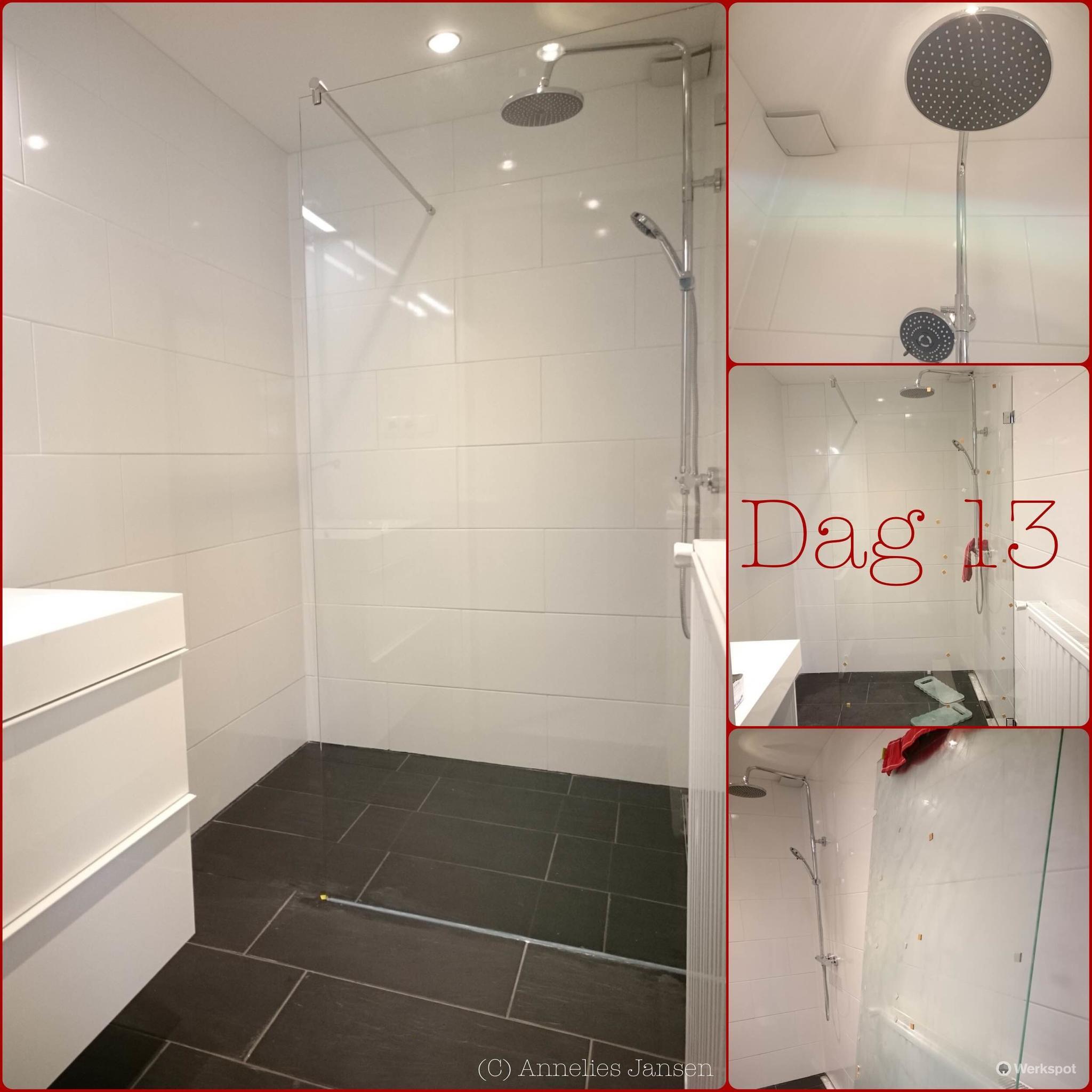 renovatie badkamer verplaasten muur biketel deuropening