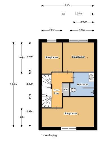 1e verdieping: slaapkamer splitsen / Zolder: (slaap)kamer creeren ...