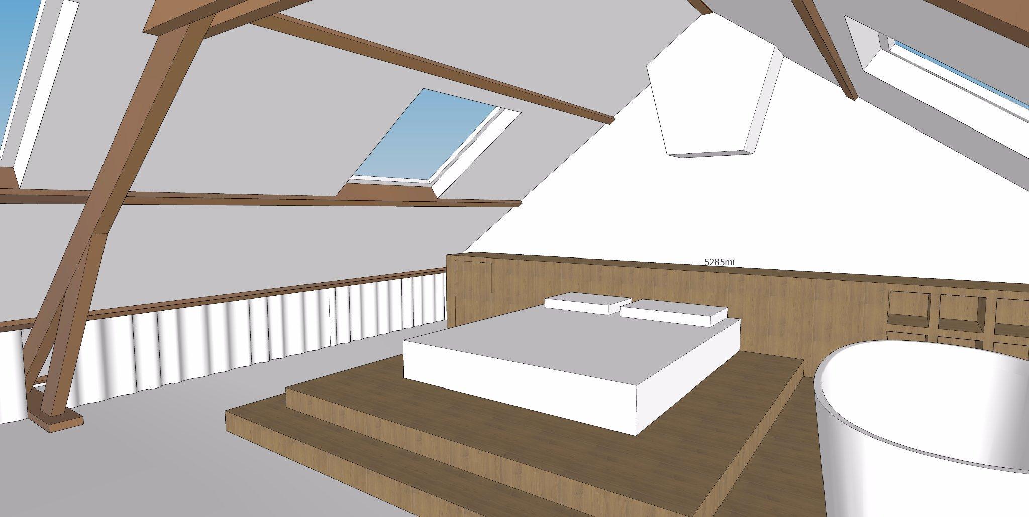 Betere zolder verbouwen tot slaapkamer met bad - Werkspot FN-83