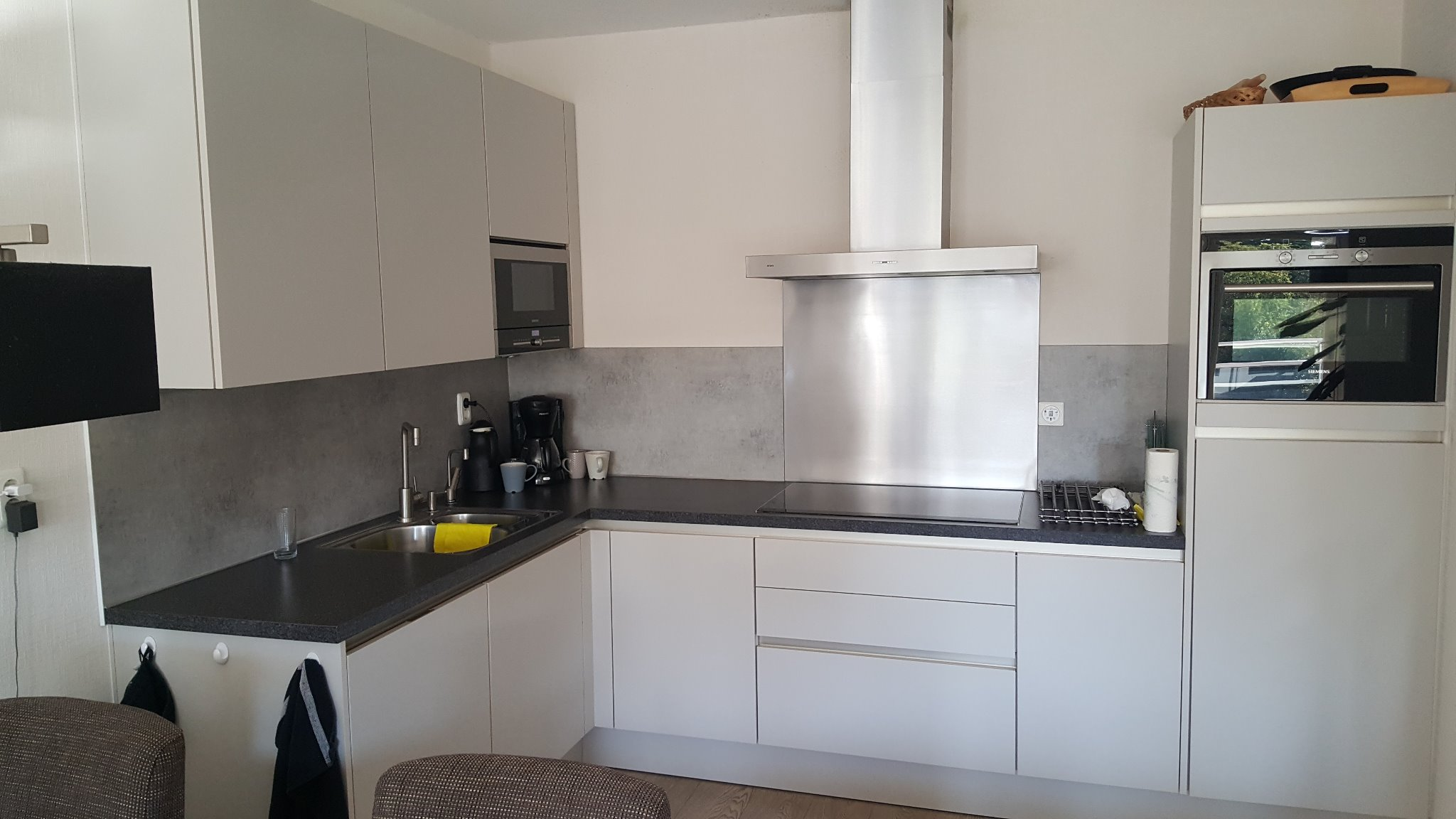 Plafond Afzuigkap Keuken : Achterwand keuken en afzuigkap vervangen en deel plafond