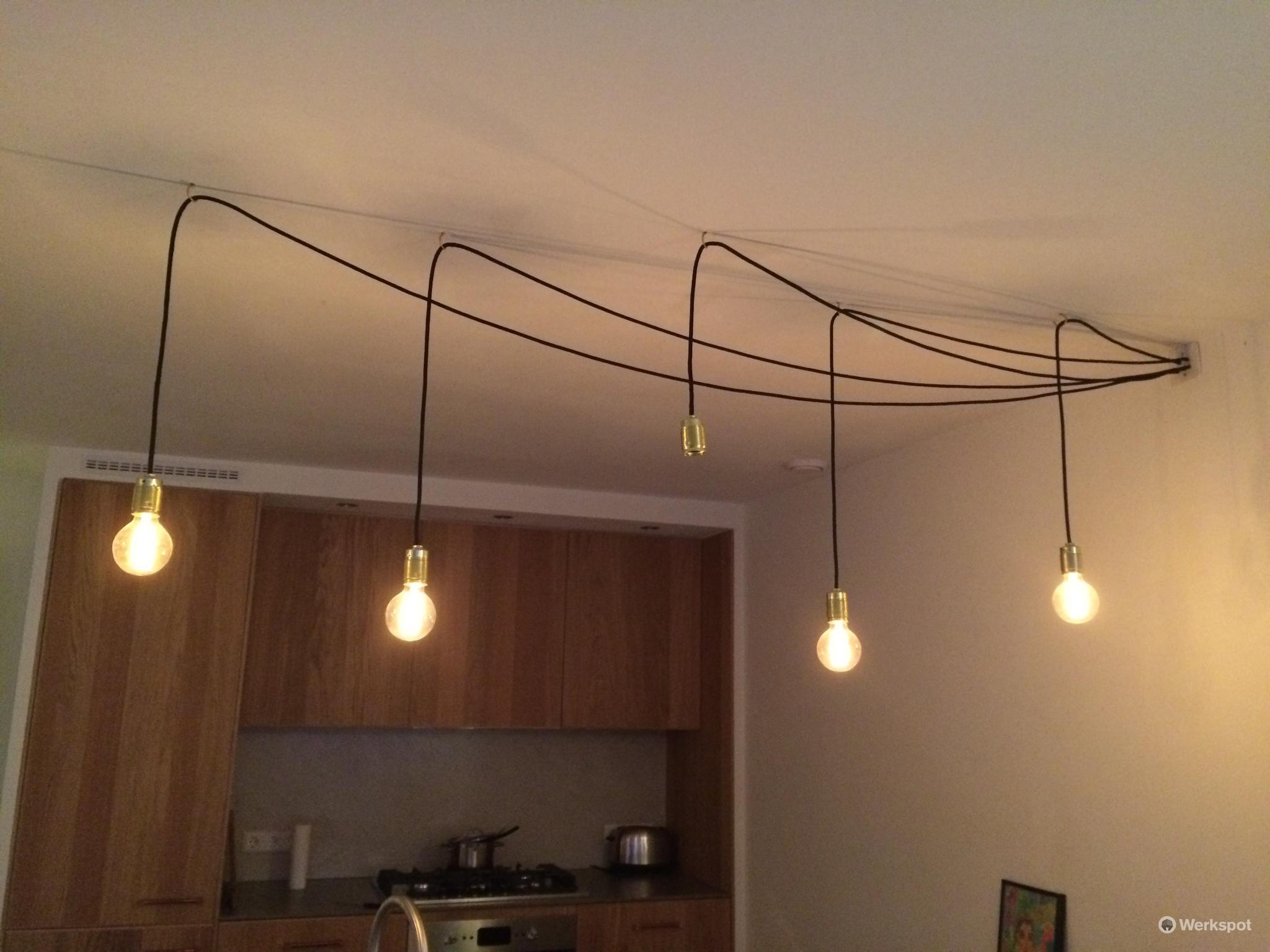 Genoeg 7 wandlampen ophangen, 5 lampjes aan het plafond hangen GU74