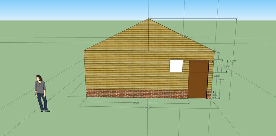 Schuur bouwen 13 meter 6 meter werkspot for Wanden nieuwbouwwoning afwerken